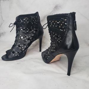 Stuart Weitzman Cagey peeptoe cutout heels
